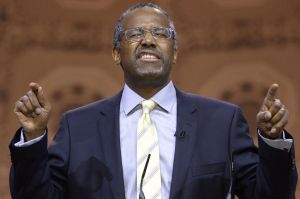 epa04115870 Professor Emeritus at Johns Hopkins School of Medicine Dr. Ben Carson speaks at the 41st Annual Conservative Political Action Conference (CPAC), at the Gaylord National Resort and Convention Center in National Harbor, Maryland, USA, 08 March 2014. EPA/MICHAEL REYNOLDS